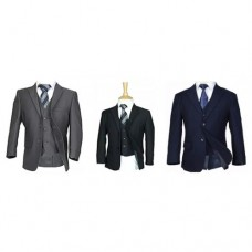 5 Piece Slim Suit In Black / Grey / Navy / Brown - BUY OR HIRE from just £10.99