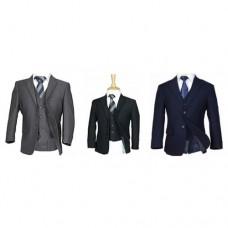 5 Piece Slim Suit In Black / Grey / Navy / Brown - BUY OR HIRE from just £10.99