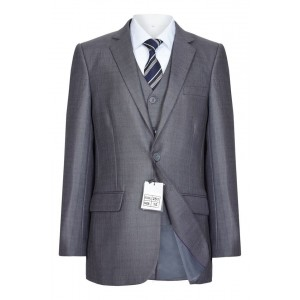 5 Piece Slim Fit Boys Suit In Grey - BUY OR HIRE from just £10.99