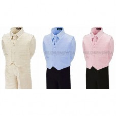 Boys Wedding Suit In Cream / Blue / Pink - BUY OR HIRE from just £10.99
