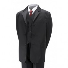 5 Piece Classic fit boys Suit In Black  6 m to 16 years- BUY OR HIRE from just £10.99