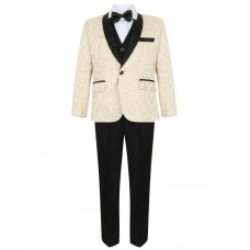 Boys Ivory Tuxedo Boys Dinner Suit James Bond Suit 1- 16 years £29.99