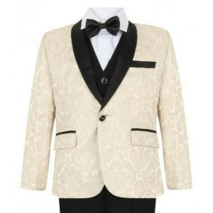 Boys Ivory Tuxedo Boys Dinner Suit James Bond Suit 1 - 16 years £29.99