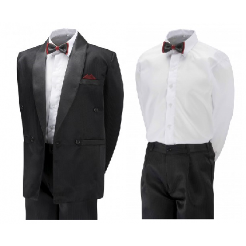 Boys & Men Tuxedo In Black / Cream / White - BUY OR HIRE from just £10.99