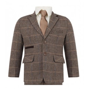 Boys Tweed Peaky Blinder Formal Slim Fit Suit 1 - 15 years £49.99