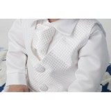 Boys Checked Christening Suit In White - BUY OR HIRE from just £10.99