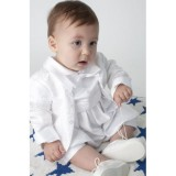 Boys Paisley Christening Romper In White - BUY OR HIRE from just £10.99