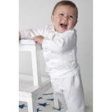 Boys Paisley Christening Suit In White - BUY OR HIRE from just £10.99