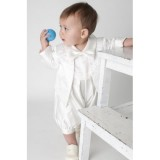 BOYS PAISLEY CHRISTENING ROMPER IN IVORY BUY OR HIRE from just £10.99