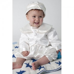Boys Christening Romper In White - BUY OR HIRE from just £10.99