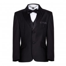 Boys Stunning Black Tuxedo Boys Dinner Suit James Bond Suit 1- 16 years 26.99